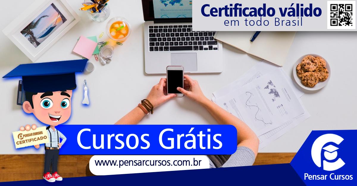 Pensar Cursos Cursos On Line Gratuitos Certificado Valido Em Todo Brasil